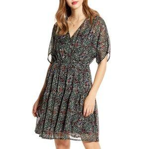Liva Floral Print Chiffon Dress
